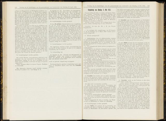 Raadsverslagen van de gemeente Leeuwarden, 1865-2007 (Notulen) 1924-05-13
