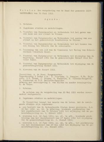 Notulen van de gemeenteraad van Leeuwarderadeel 1952-06-30