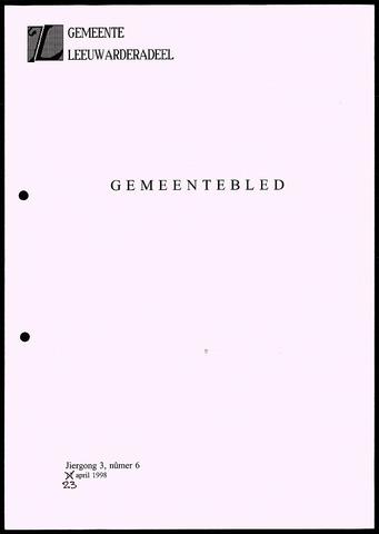 Notulen van de gemeenteraad van Leeuwarderadeel 1998-04-23