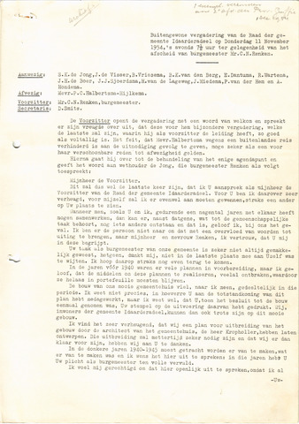 raadsverslagen Idaarderadeel 1935-1983 1954-11-11