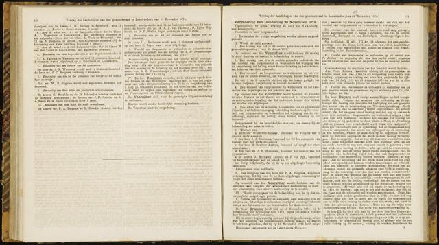 Raadsverslagen van de gemeente Leeuwarden, 1865-2007 (Notulen) 1874-11-26