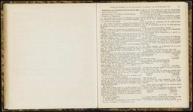 Raadsverslagen van de gemeente Leeuwarden, 1865-2007 (Notulen) 1883-11-22