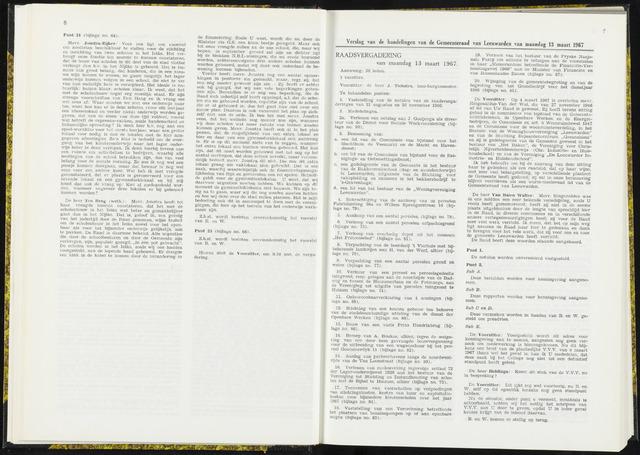 Raadsverslagen van de gemeente Leeuwarden, 1865-2007 (Notulen) 1967-03-13