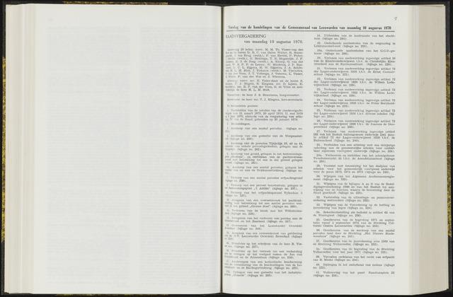 Raadsverslagen van de gemeente Leeuwarden, 1865-2007 (Notulen) 1970-08-10
