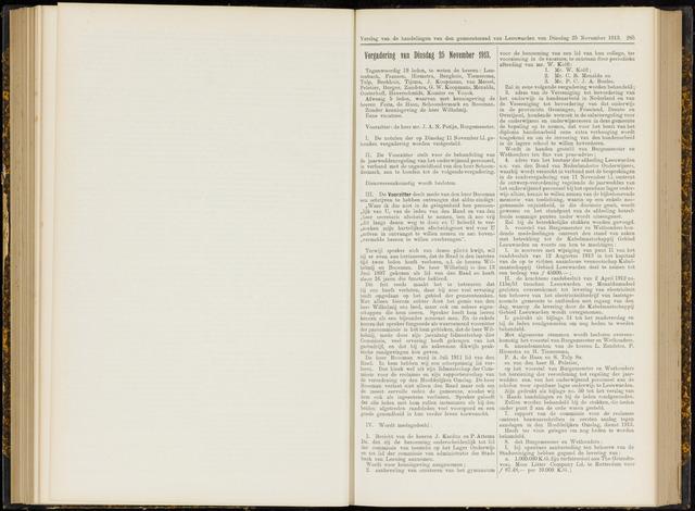 Raadsverslagen van de gemeente Leeuwarden, 1865-2007 (Notulen) 1913-11-25