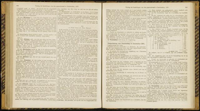 Raadsverslagen van de gemeente Leeuwarden, 1865-2007 (Notulen) 1871-12-14