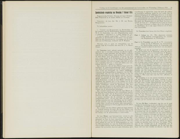 Raadsverslagen van de gemeente Leeuwarden, 1865-2007 (Notulen) 1934-02-07