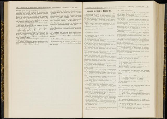 Raadsverslagen van de gemeente Leeuwarden, 1865-2007 (Notulen) 1928-08-07