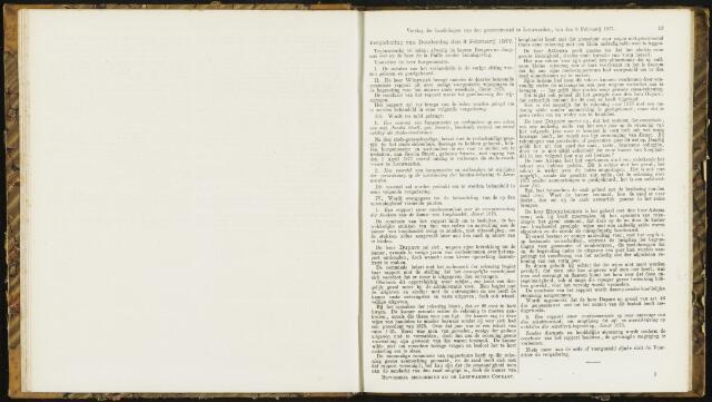 Raadsverslagen van de gemeente Leeuwarden, 1865-2007 (Notulen) 1877-02-08