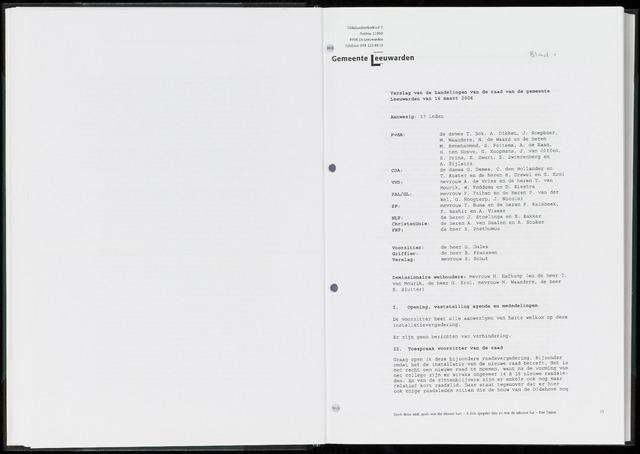 Raadsverslagen van de gemeente Leeuwarden, 1865-2007 (Notulen) 2006-03-16
