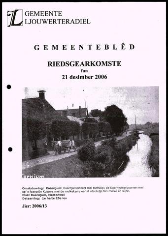 Notulen van de gemeenteraad van Leeuwarderadeel 2006-12-21