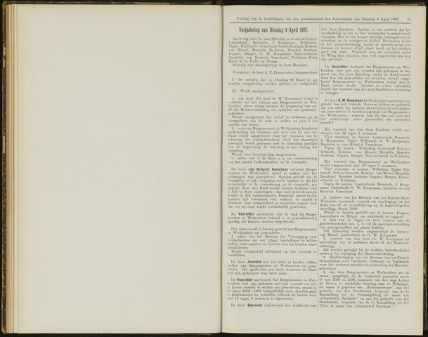 Raadsverslagen van de gemeente Leeuwarden, 1865-2007 (Notulen) 1907-04-09