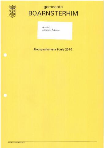 Boarnsterhim vergaderstukken gemeenteraad  2010-07-06