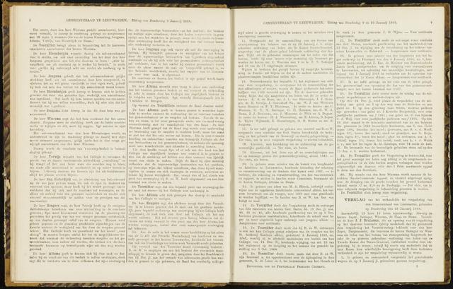Raadsverslagen van de gemeente Leeuwarden, 1865-2007 (Notulen) 1868-01-23