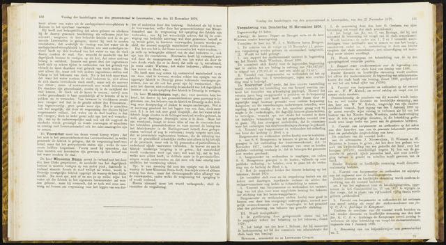 Raadsverslagen van de gemeente Leeuwarden, 1865-2007 (Notulen) 1879-11-27