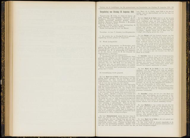 Raadsverslagen van de gemeente Leeuwarden, 1865-2007 (Notulen) 1910-08-23