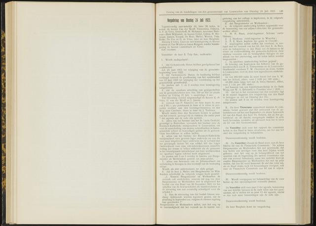 Raadsverslagen van de gemeente Leeuwarden, 1865-2007 (Notulen) 1923-07-24