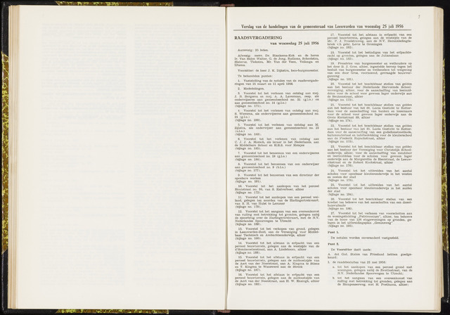 Raadsverslagen van de gemeente Leeuwarden, 1865-2007 (Notulen) 1956-07-25