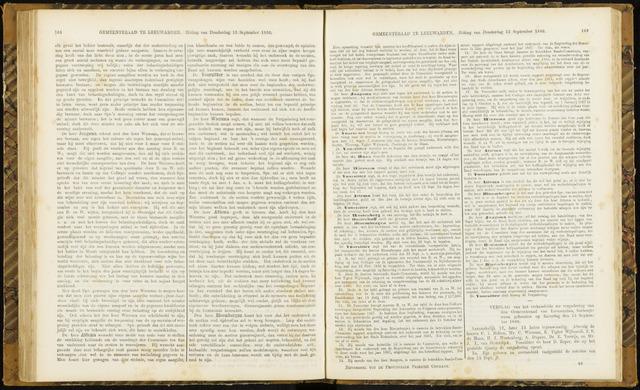 Raadsverslagen van de gemeente Leeuwarden, 1865-2007 (Notulen) 1866-09-15