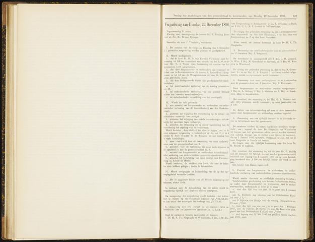 Raadsverslagen van de gemeente Leeuwarden, 1865-2007 (Notulen) 1896-12-22