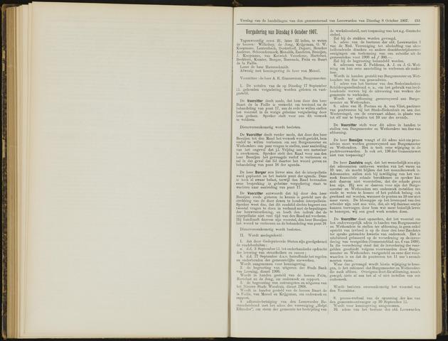 Raadsverslagen van de gemeente Leeuwarden, 1865-2007 (Notulen) 1907-10-08