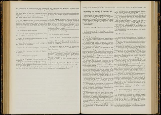 Raadsverslagen van de gemeente Leeuwarden, 1865-2007 (Notulen) 1908-11-10