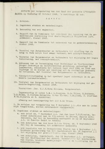 Notulen van de gemeenteraad van Leeuwarderadeel 1946-10-23