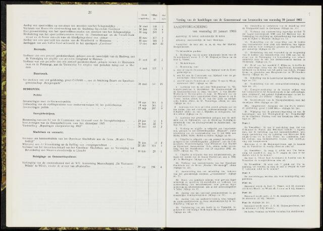Raadsverslagen van de gemeente Leeuwarden, 1865-2007 (Notulen) 1965