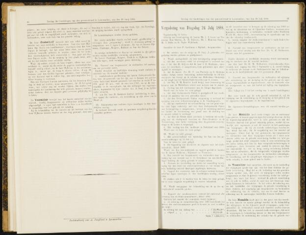 Raadsverslagen van de gemeente Leeuwarden, 1865-2007 (Notulen) 1888-07-24
