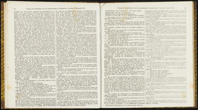 Raadsverslagen van de gemeente Leeuwarden, 1865-2007 (Notulen) 1879-03-13