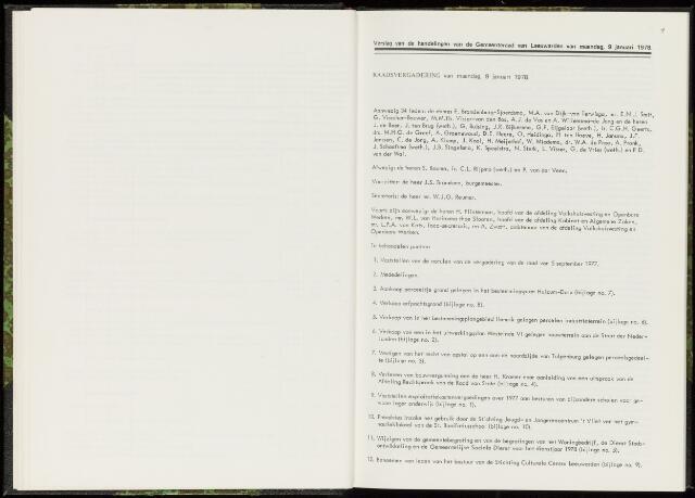 Raadsverslagen van de gemeente Leeuwarden, 1865-2007 (Notulen) 1978