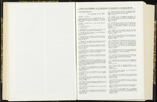 Raadsverslagen van de gemeente Leeuwarden, 1865-2007 (Notulen) 1961-07-26