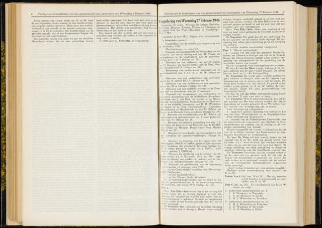 Raadsverslagen van de gemeente Leeuwarden, 1865-2007 (Notulen) 1946-02-27