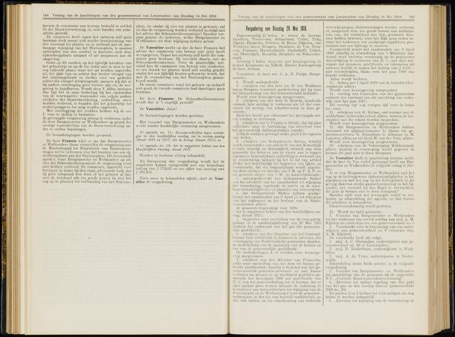 Raadsverslagen van de gemeente Leeuwarden, 1865-2007 (Notulen) 1918-05-28