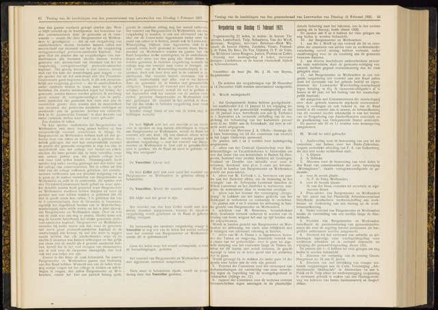Raadsverslagen van de gemeente Leeuwarden, 1865-2007 (Notulen) 1921-02-15