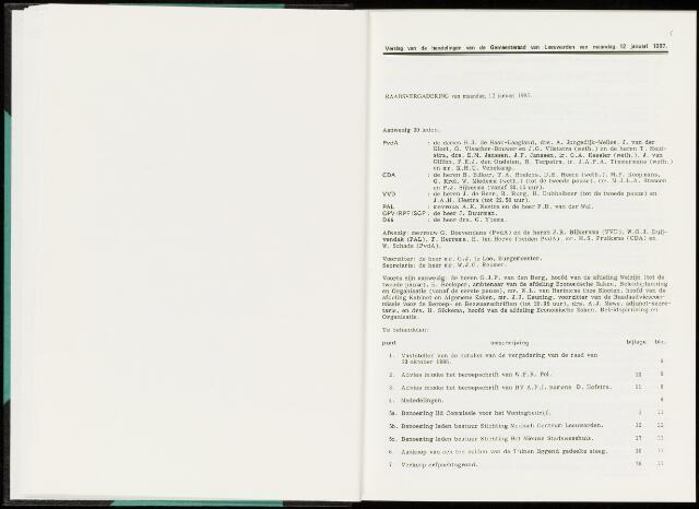 Raadsverslagen van de gemeente Leeuwarden, 1865-2007 (Notulen) 1987