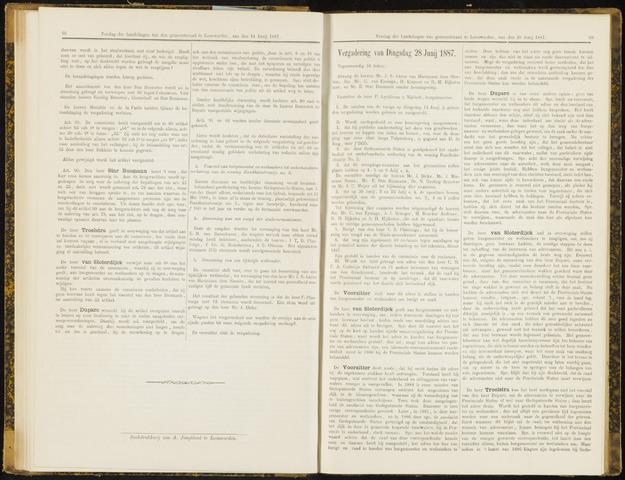 Raadsverslagen van de gemeente Leeuwarden, 1865-2007 (Notulen) 1887-06-28