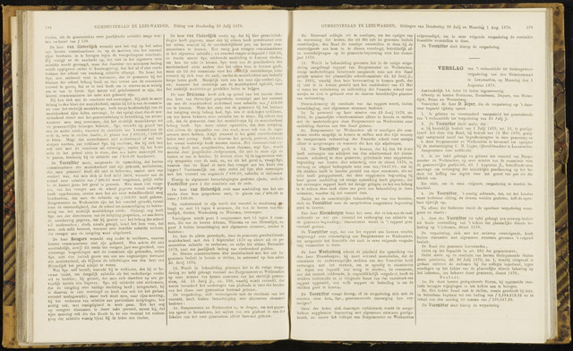 Raadsverslagen van de gemeente Leeuwarden, 1865-2007 (Notulen) 1870-08-01