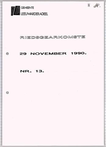 Notulen van de gemeenteraad van Leeuwarderadeel 1990-11-29