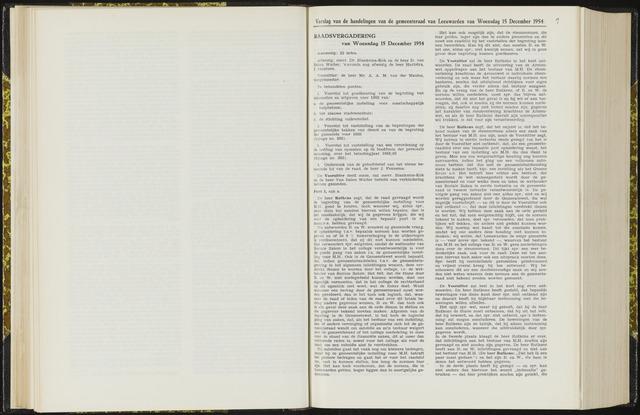 Raadsverslagen van de gemeente Leeuwarden, 1865-2007 (Notulen) 1954-12-15