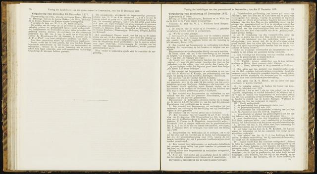 Raadsverslagen van de gemeente Leeuwarden, 1865-2007 (Notulen) 1877-12-15