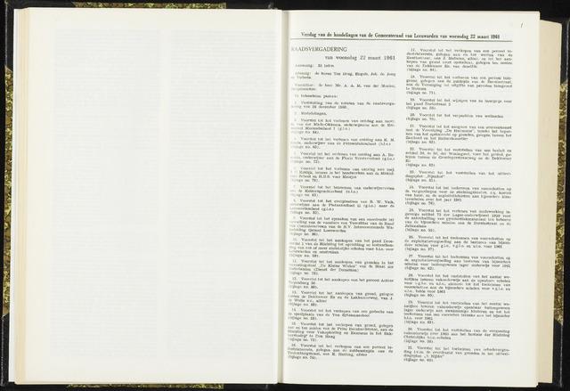 Raadsverslagen van de gemeente Leeuwarden, 1865-2007 (Notulen) 1961-03-22