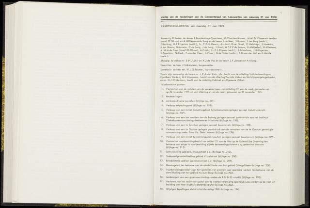Raadsverslagen van de gemeente Leeuwarden, 1865-2007 (Notulen) 1976-05-31