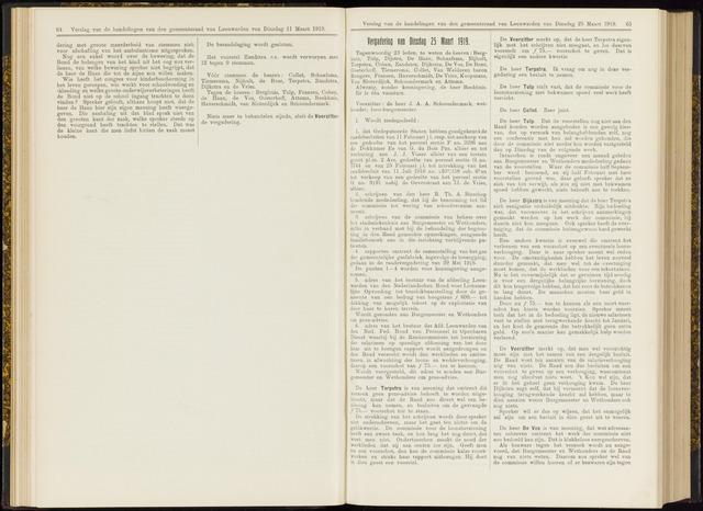 Raadsverslagen van de gemeente Leeuwarden, 1865-2007 (Notulen) 1919-03-25