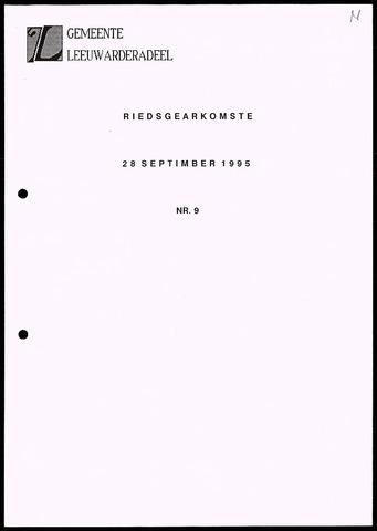 Notulen van de gemeenteraad van Leeuwarderadeel 1995-09-28