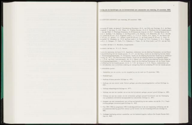 Raadsverslagen van de gemeente Leeuwarden, 1865-2007 (Notulen) 1980-11-24