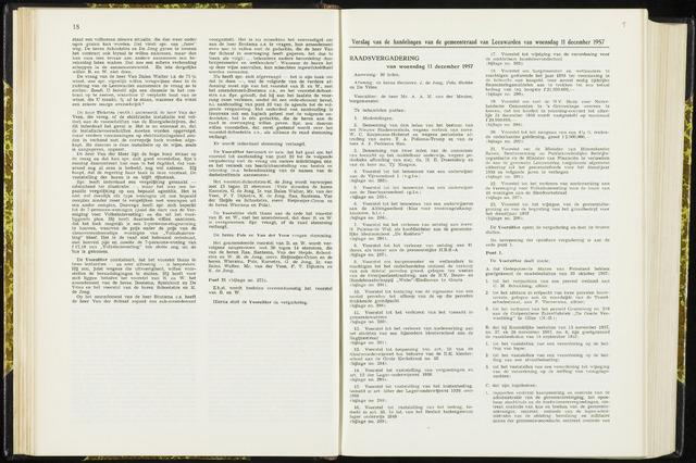 Raadsverslagen van de gemeente Leeuwarden, 1865-2007 (Notulen) 1957-12-11