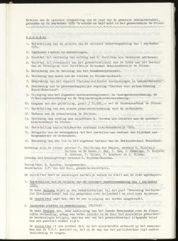 Notulen van de gemeenteraad van Leeuwarderadeel 1970-09-24