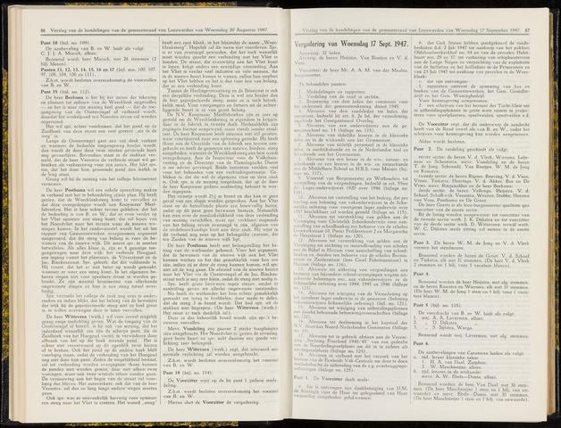 Raadsverslagen van de gemeente Leeuwarden, 1865-2007 (Notulen) 1947-07-19