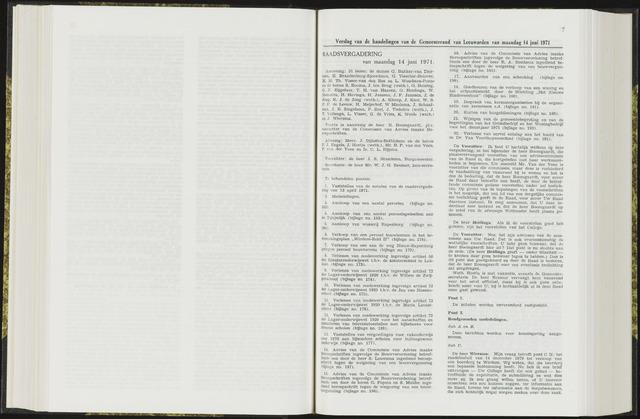 Raadsverslagen van de gemeente Leeuwarden, 1865-2007 (Notulen) 1971-06-14